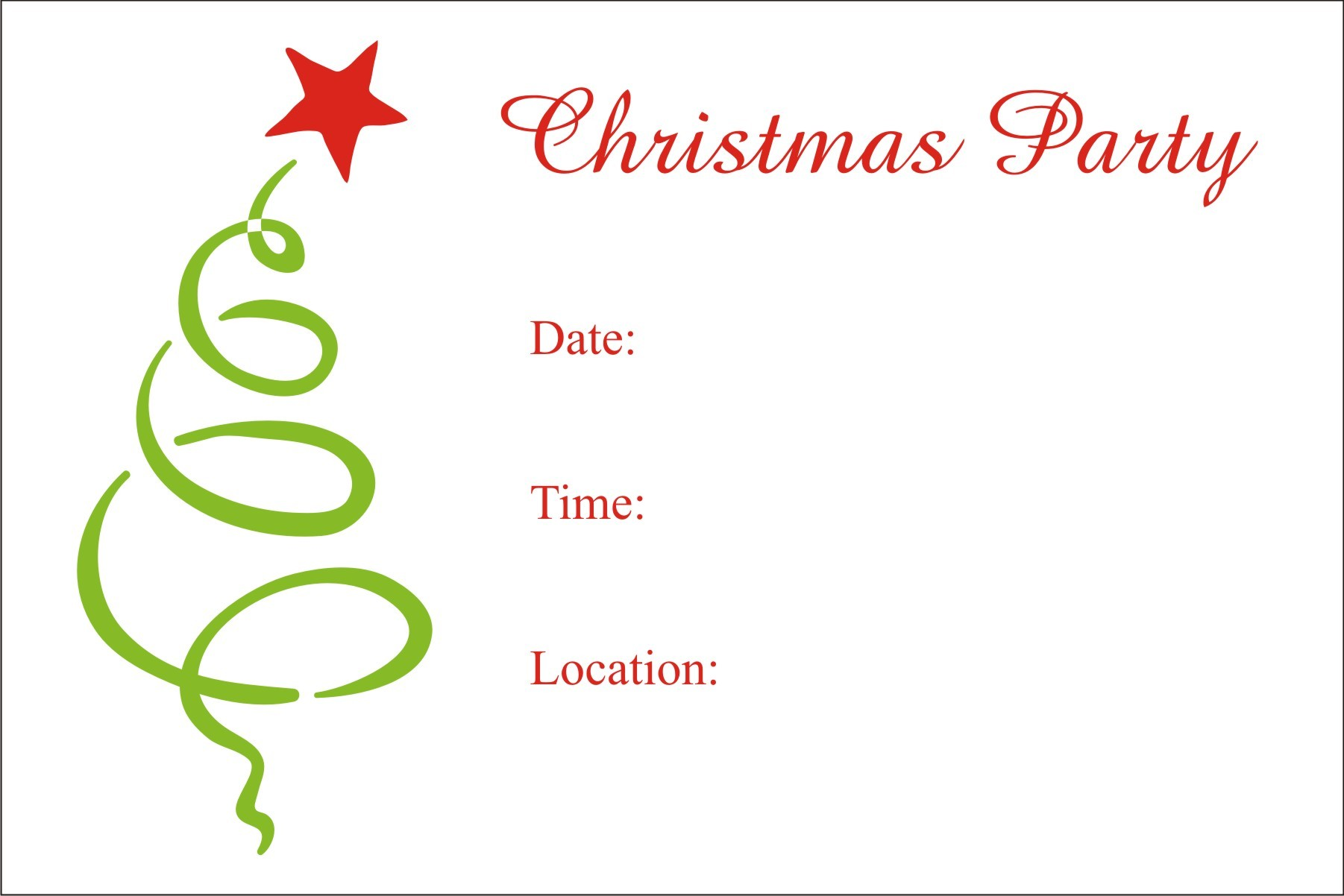 7 Images of Free Printable Christmas Invitation Templates