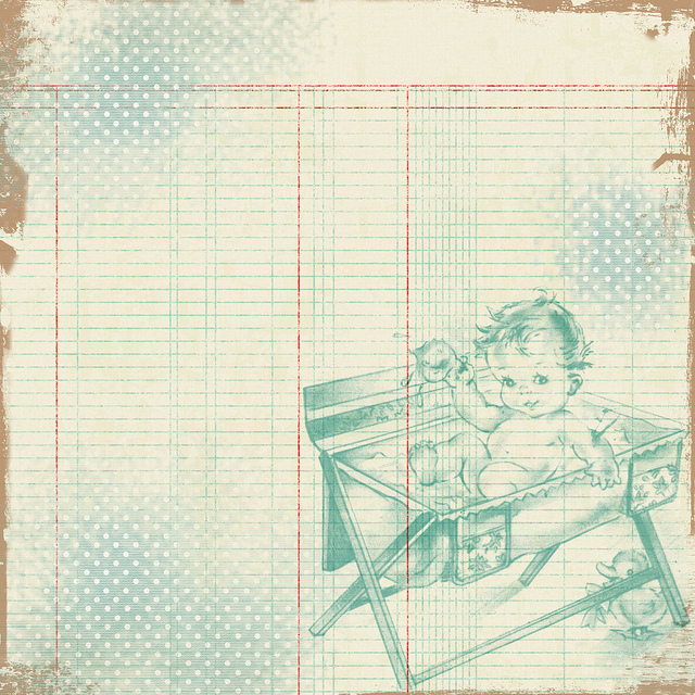 7 Images of Baby Scrapbook Paper Free Printables