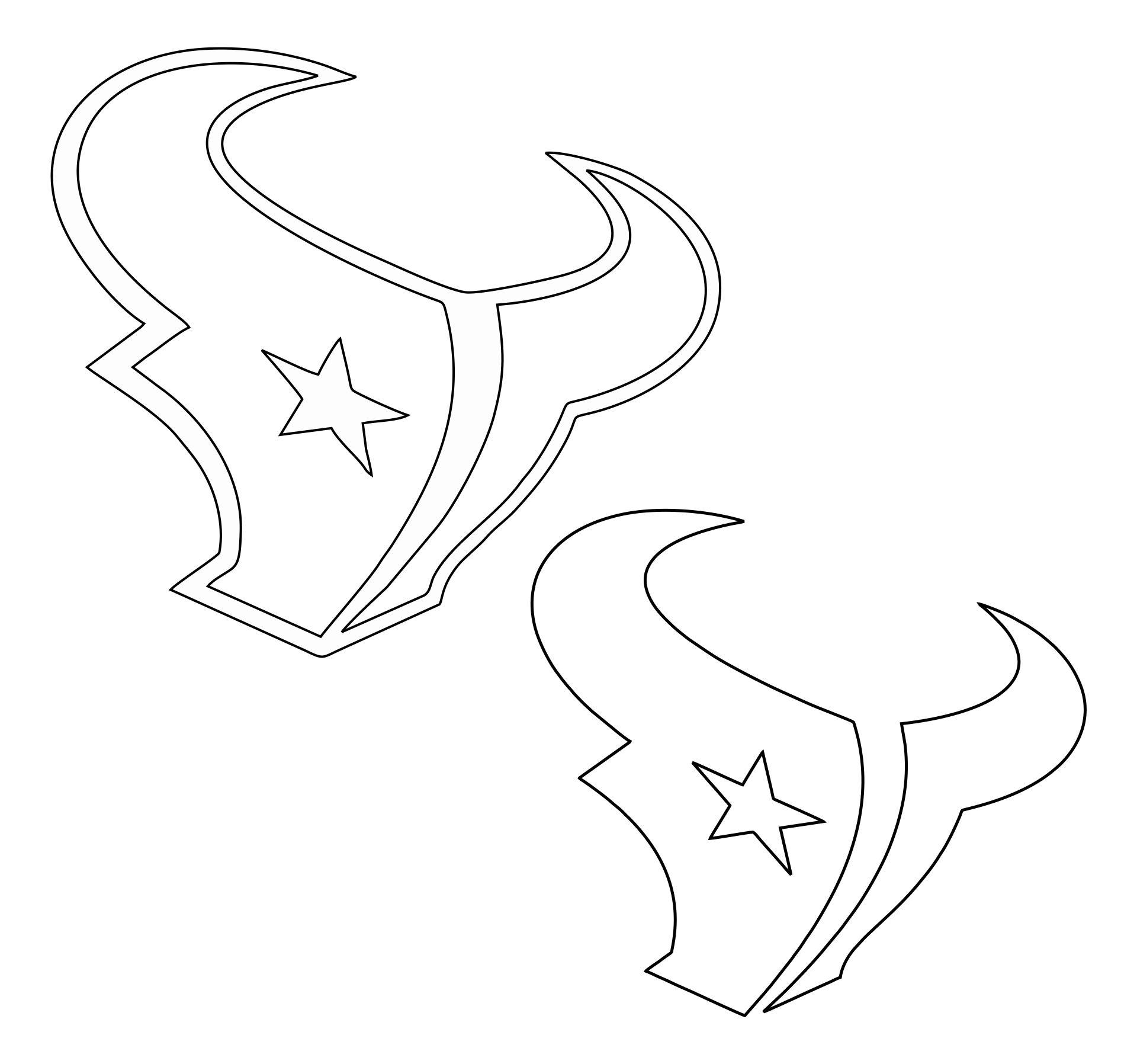 Houston Texans Logo Stencil