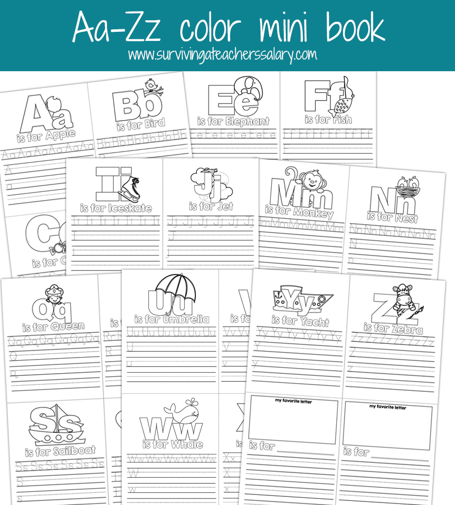 4 Images of Printable Mini Book Letter Z