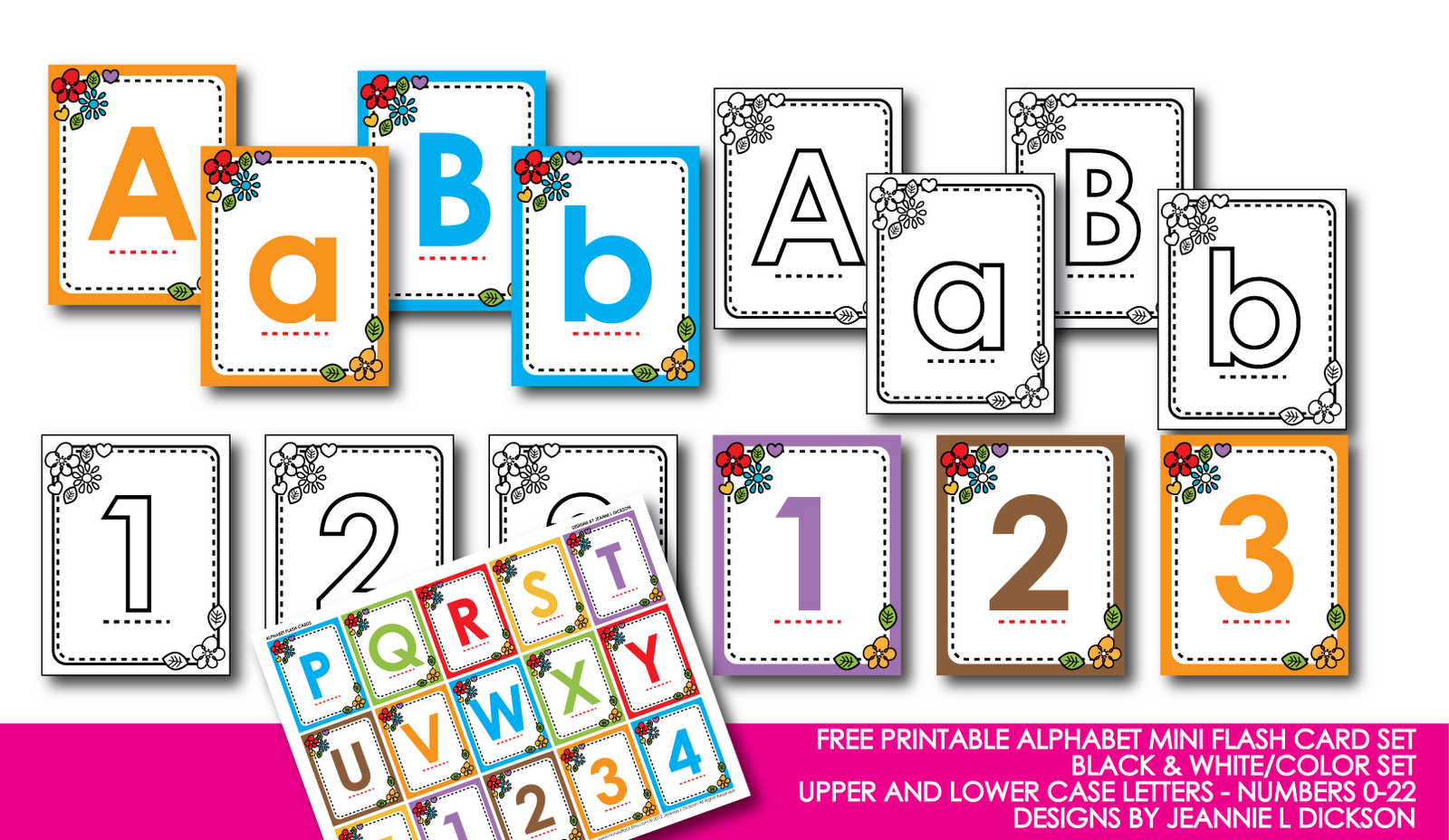 Free Printable Alphabet Letters Flash Cards, Printable Number Cards ...