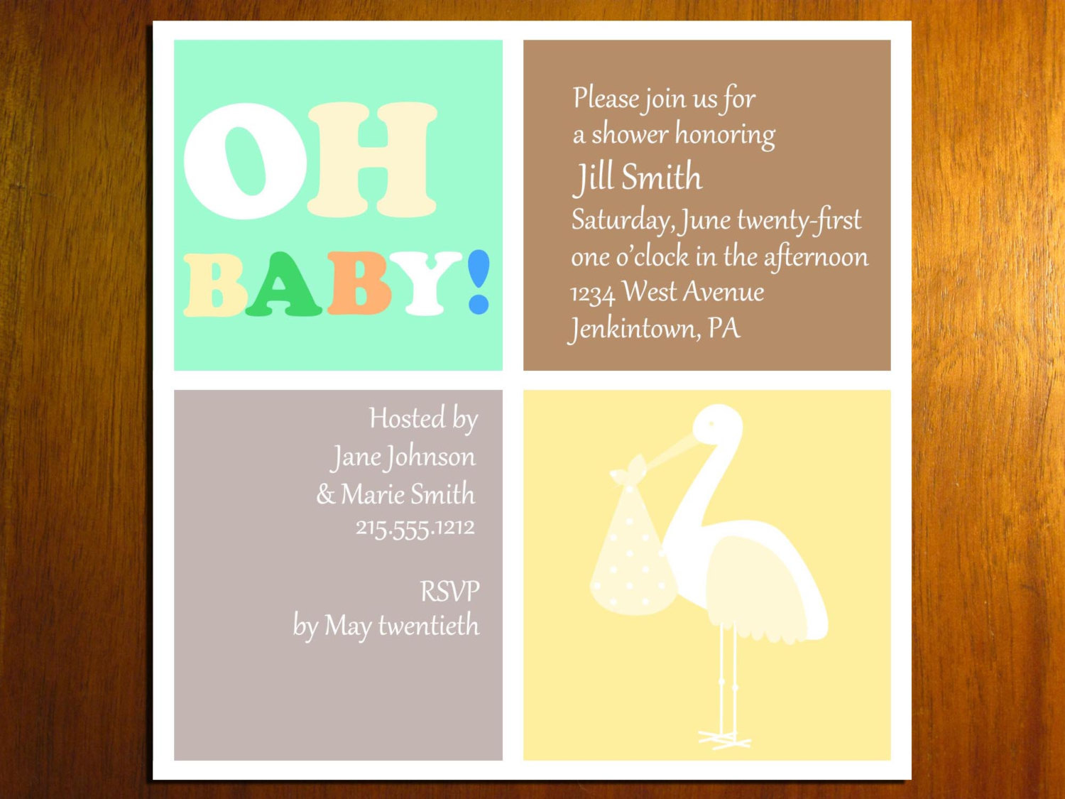 4 Images of Printable Baby Shower Greeting