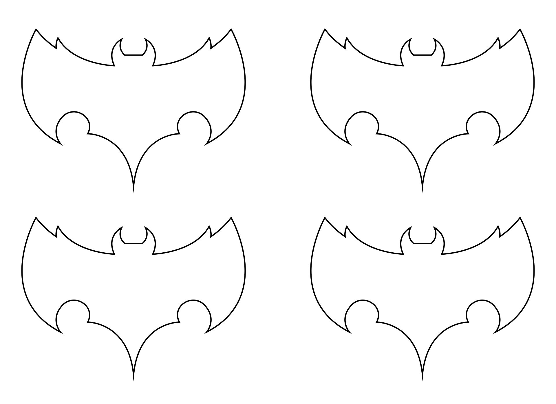 Free Printable Bat Template