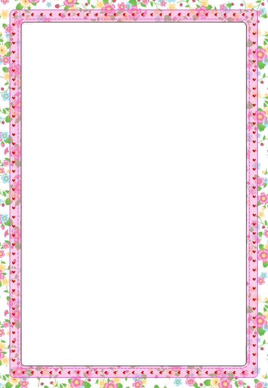 Printable Border Paper Stationery