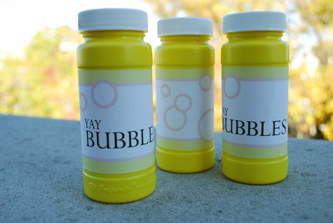 Free Printable Bubbles Labels for Birthday Party