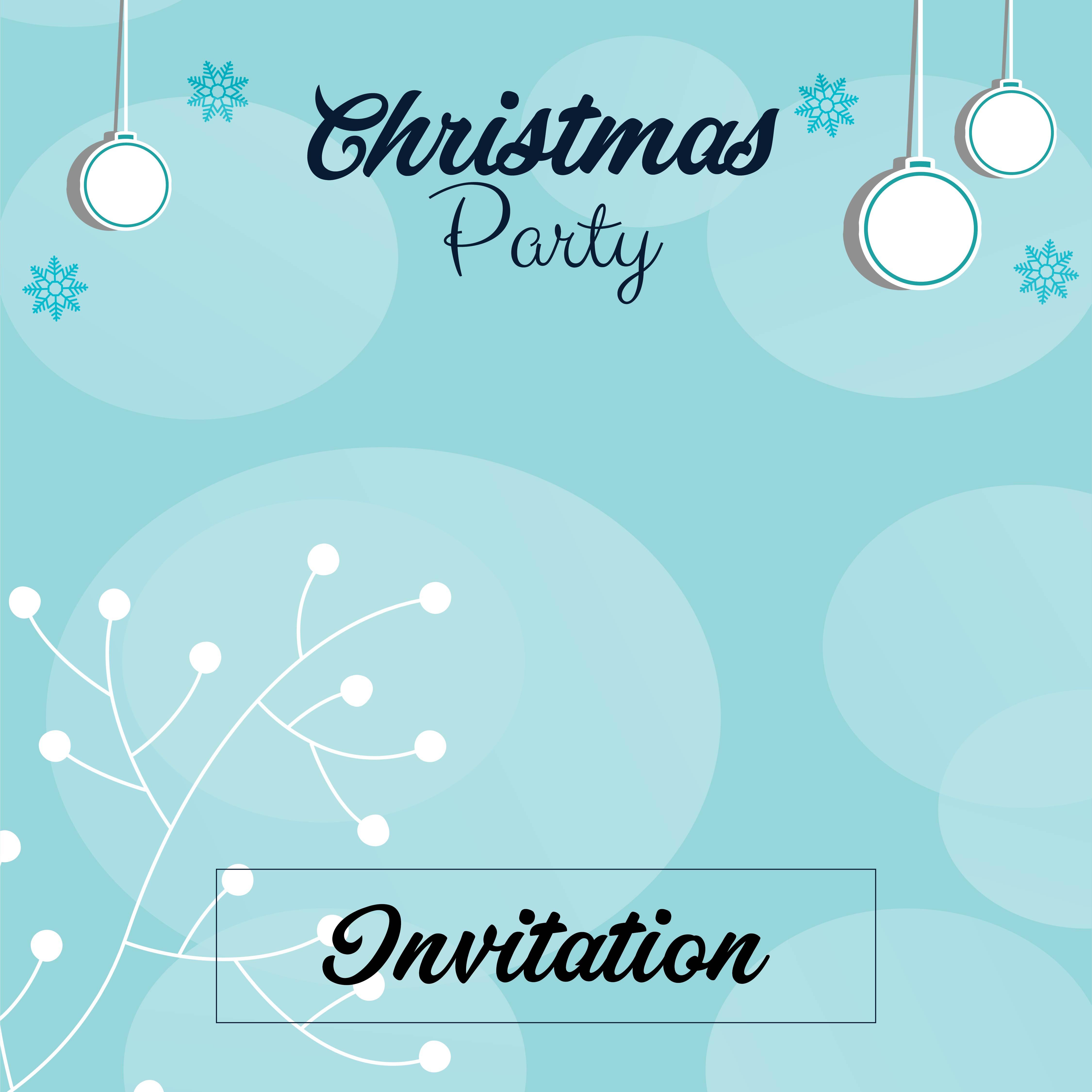 Printable Christmas Invitation Cards Templates