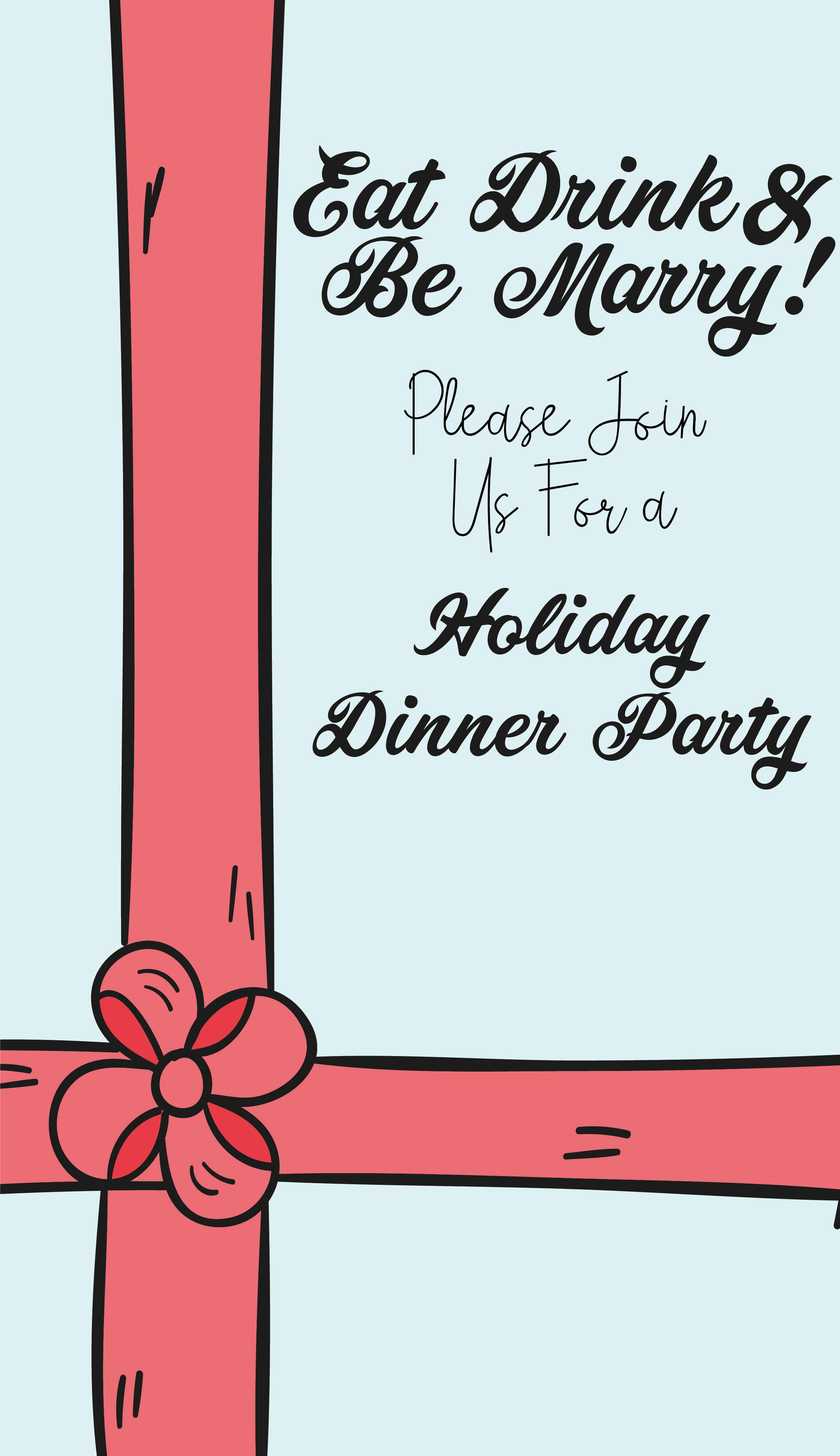 Printable Christmas Party Invitations Templates