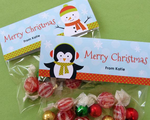 Best images of christmas treat bag printables free