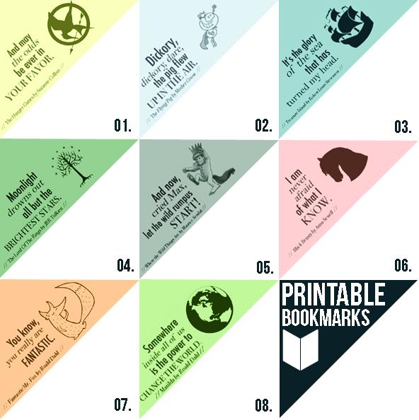 4 Images of Printable Corner Bookmarks