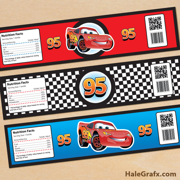 6 Images of Disney Cars Printable Labels