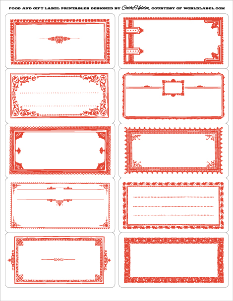 Custom Card Template free avery templates : 8 Best Images of Vintage Labels Printable Avery - Avery ...