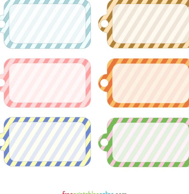 8 Images of Free Customizable Printable Gift Tags