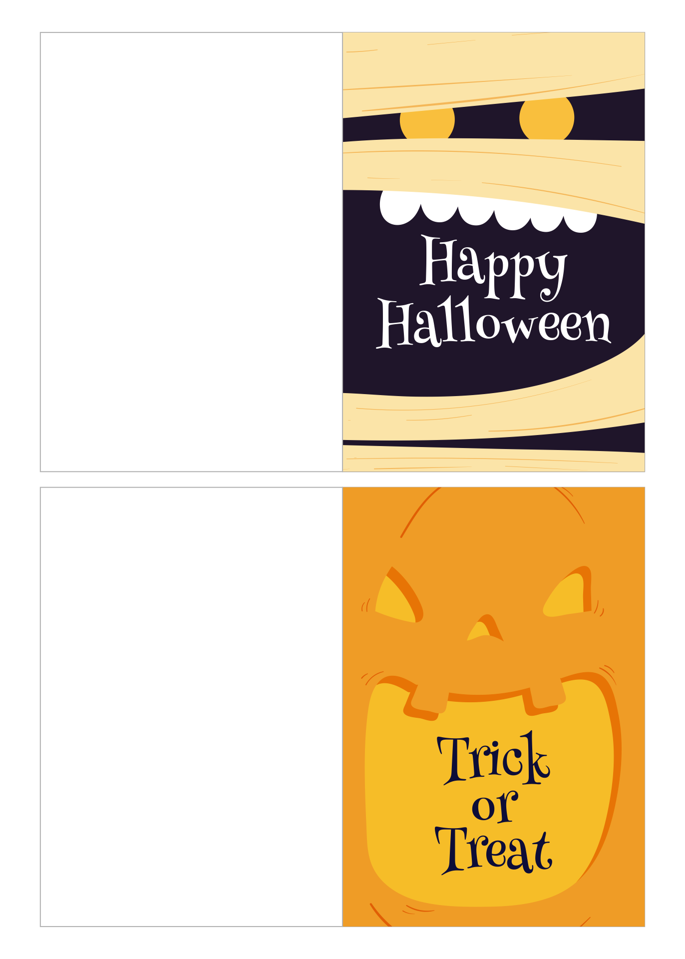 6 Images of Funny Halloween Cards Printable