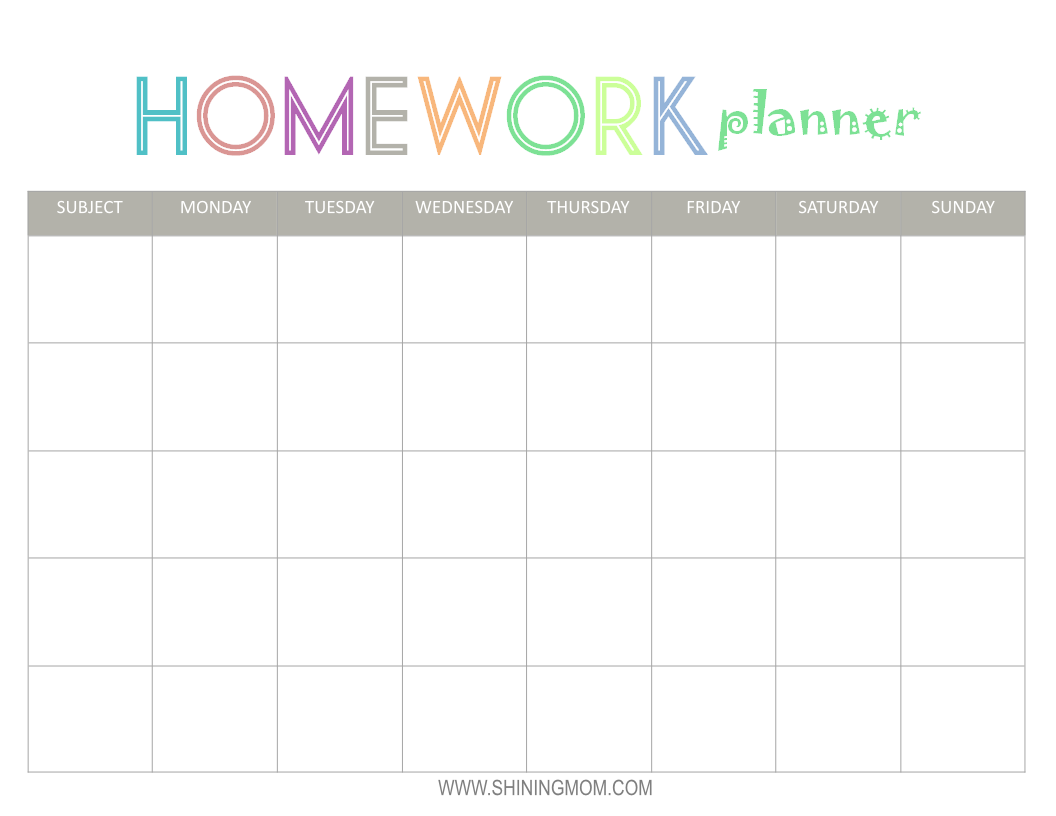 Calendar Homework Sheet : Best images of free printable homework calendar