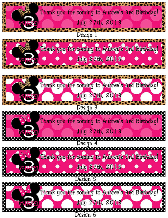 9 Best Images Of Minnie Mouse Printable Water Bottle Labels - Free