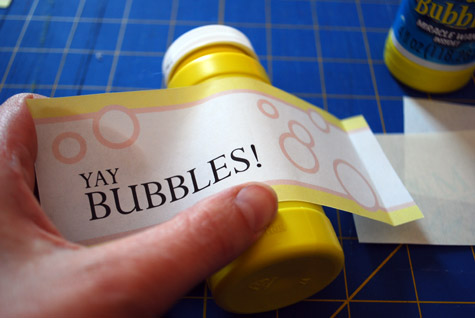 Free Printable Party Favor Tags for Bubbles