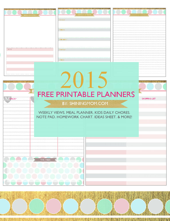 6 Images of Free Printable Mom Daily Planners