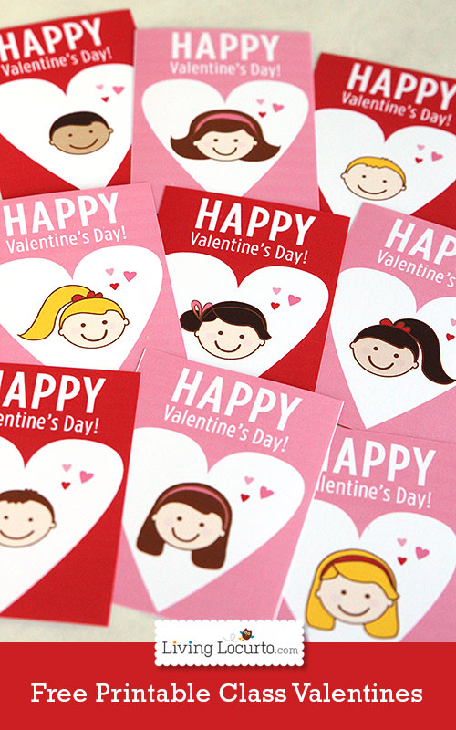 Free Printable School Valentine's Day Cards