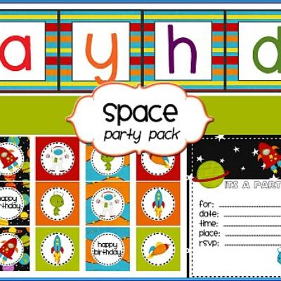 6 Images of Free Printable Space Party