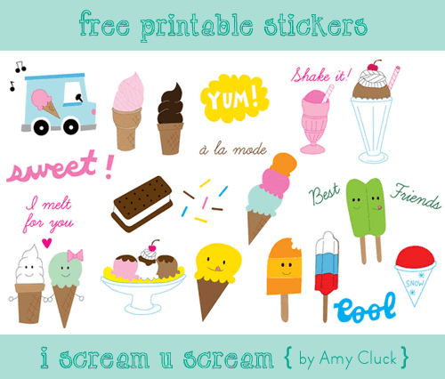 7 Images of Cute Printable Stickers