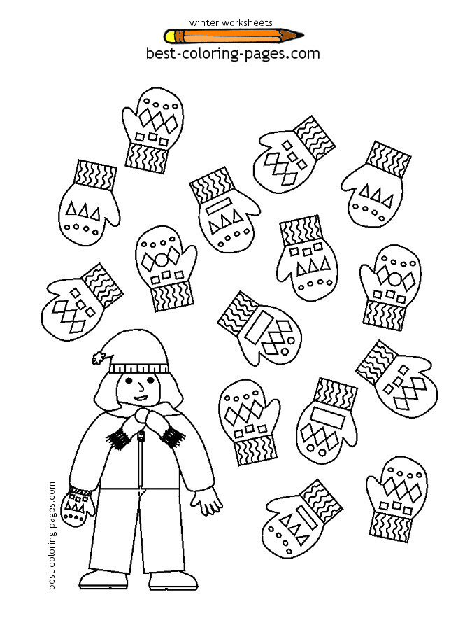 math worksheet : 8 best images of free printable winter worksheets for kids  : Winter Math Worksheets