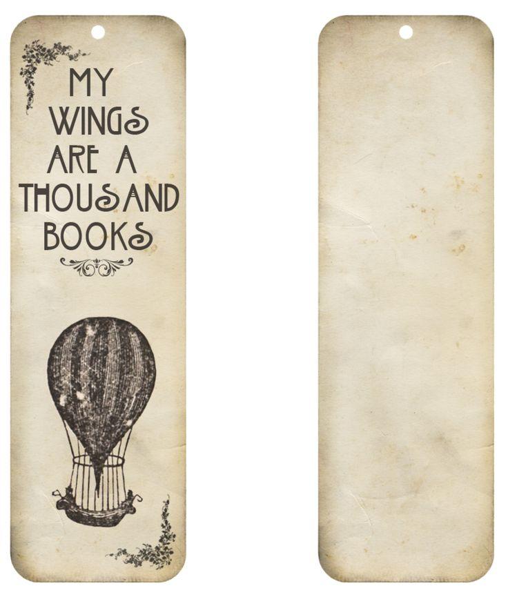 Free Vintage Bookmark Printable