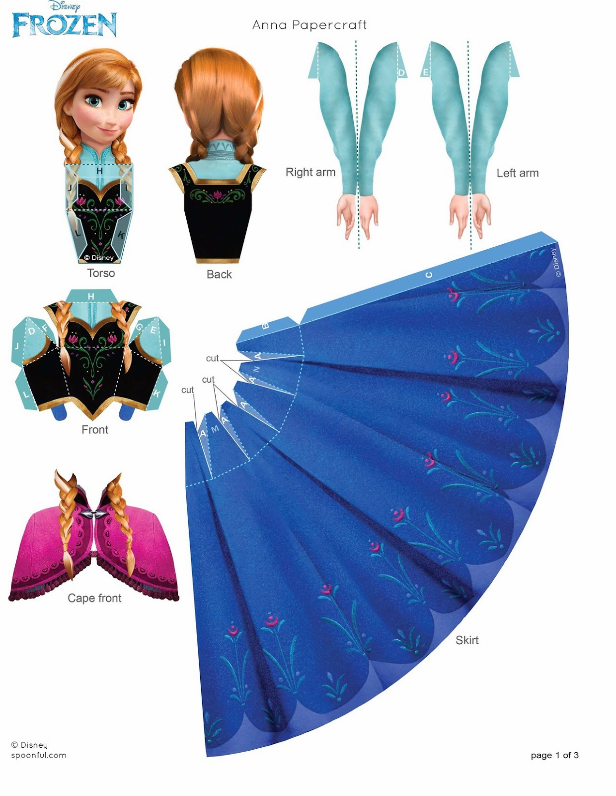 8 Images of Frozen Paper Doll Printable