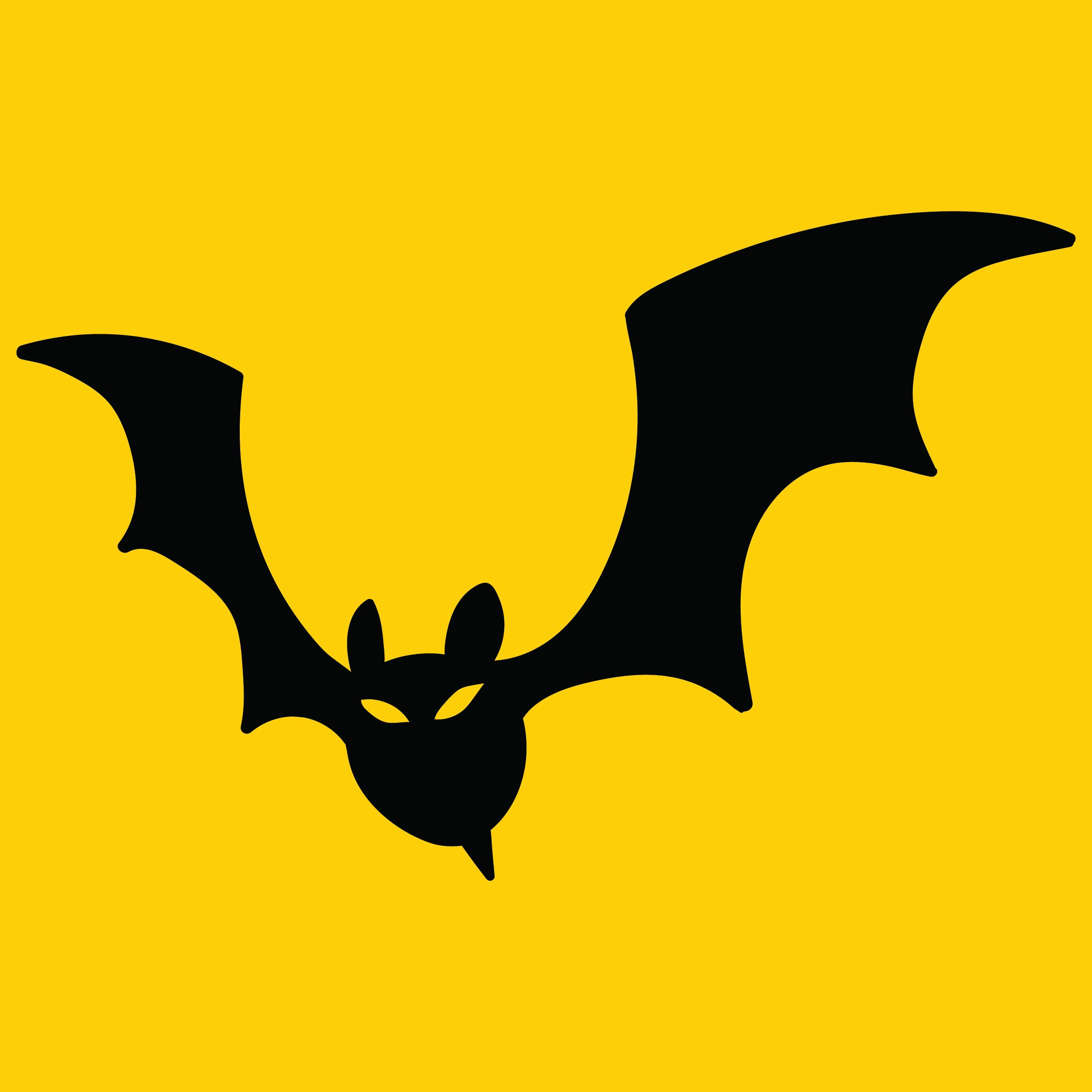 Halloween Bat Outline Clip Art