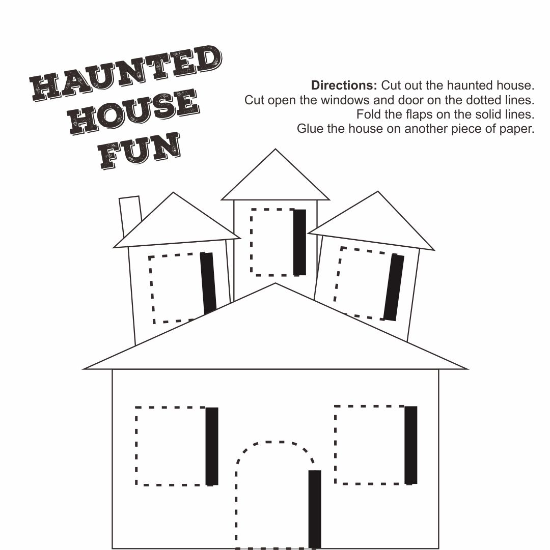 Haunted House Template for Kids