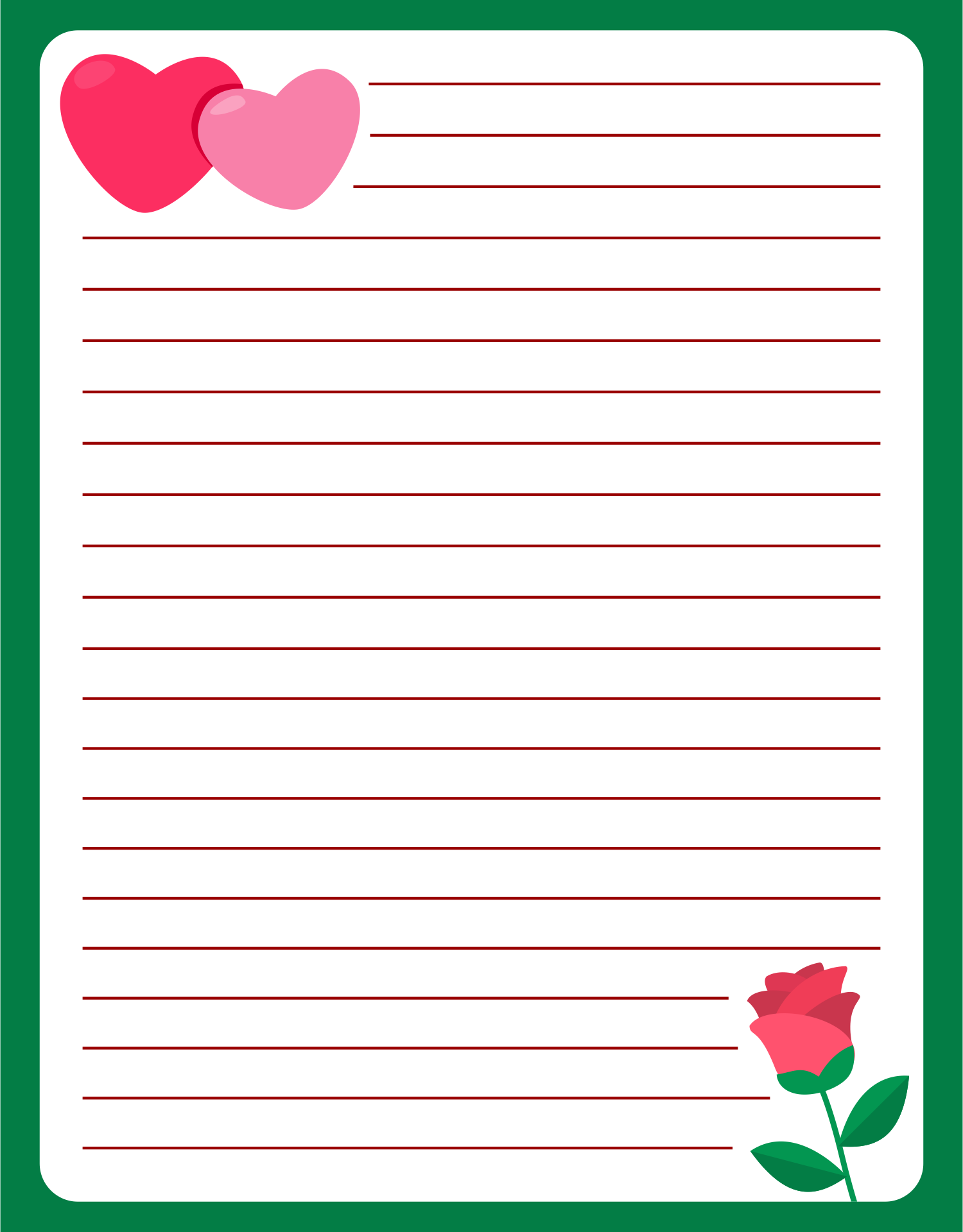 9 best images of printable valentine letter templates for Heart shaped writing template
