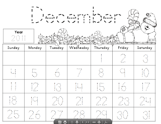 9 Images of Kindergarten Calendar Journal Printables