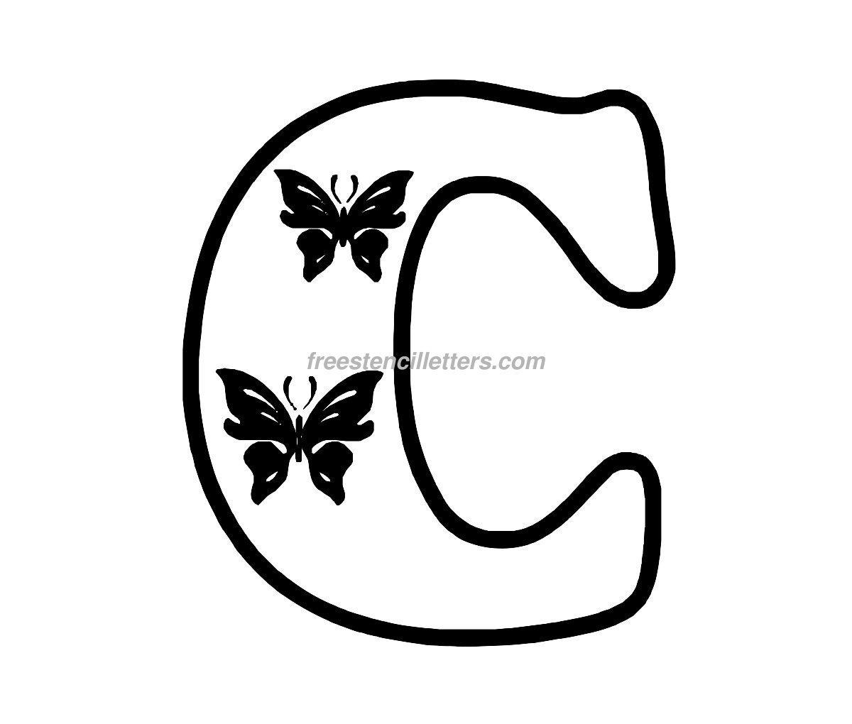 8 Images of Printable Alphabet Stencils Letter C