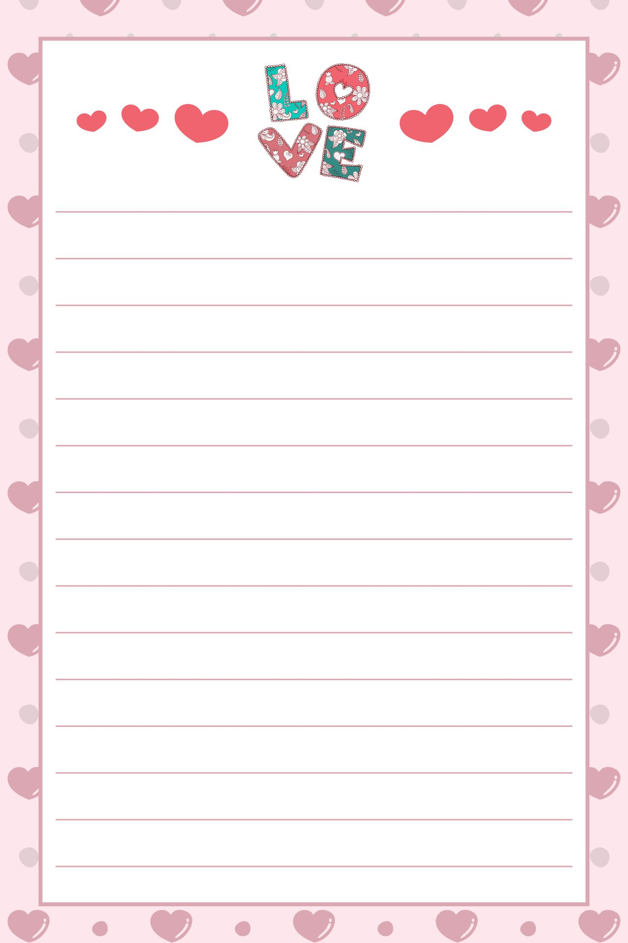 Love Valentine Letter Template