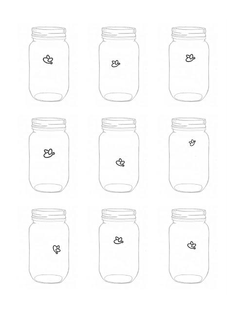 Mason Jar Firefly Printable