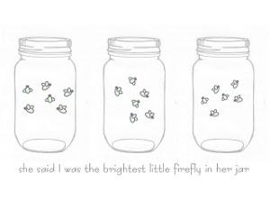 Mason Jar with Fireflies Clip Art