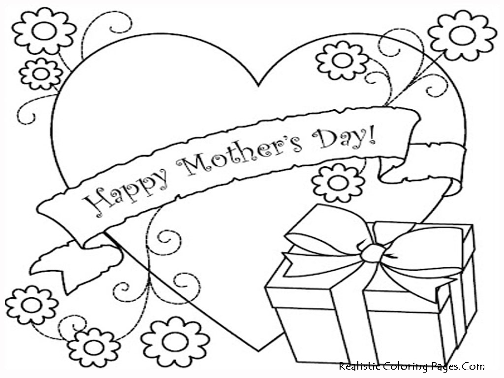 4 Images of Mother's Day Printable Coloring Sheets