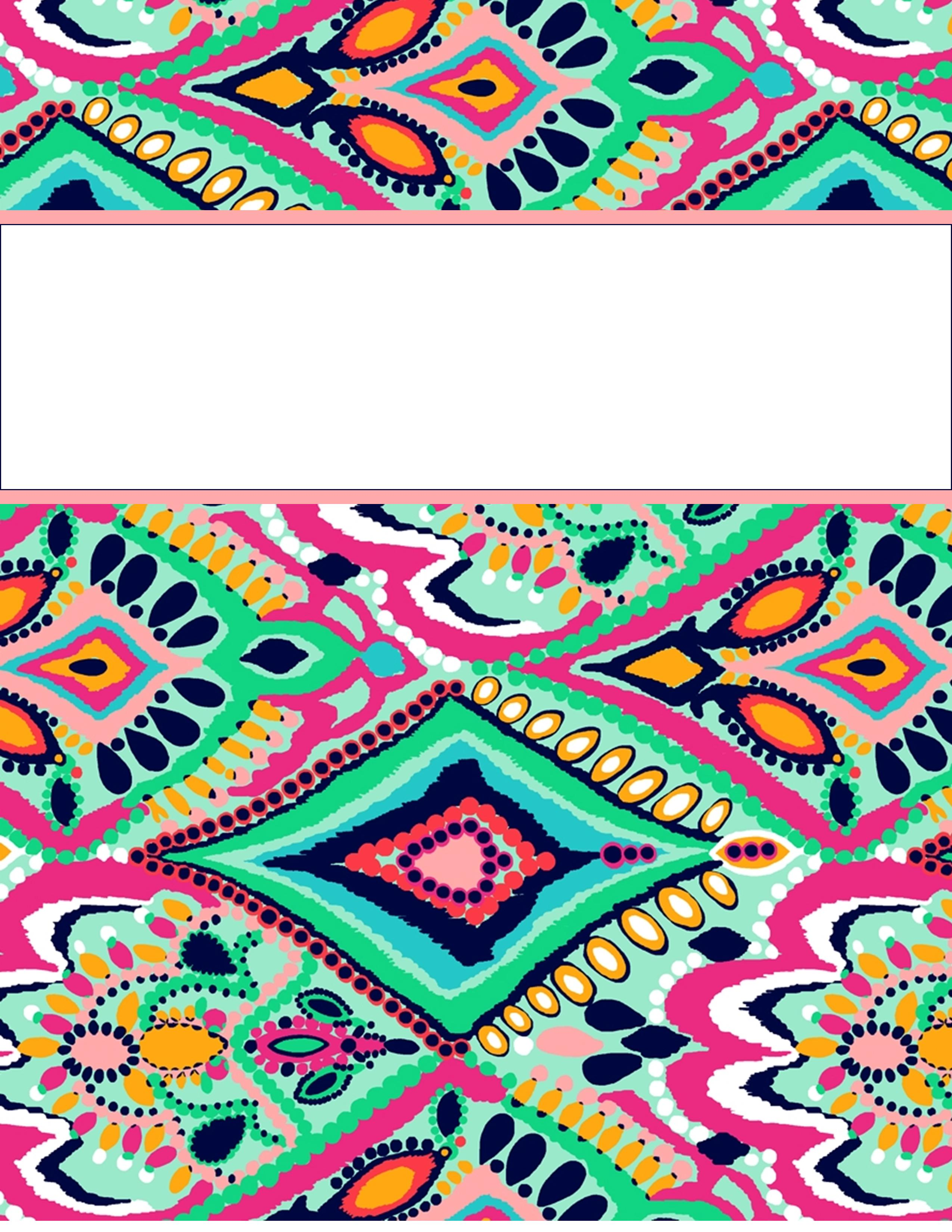 8 Images of Cute Printable Binder Covers