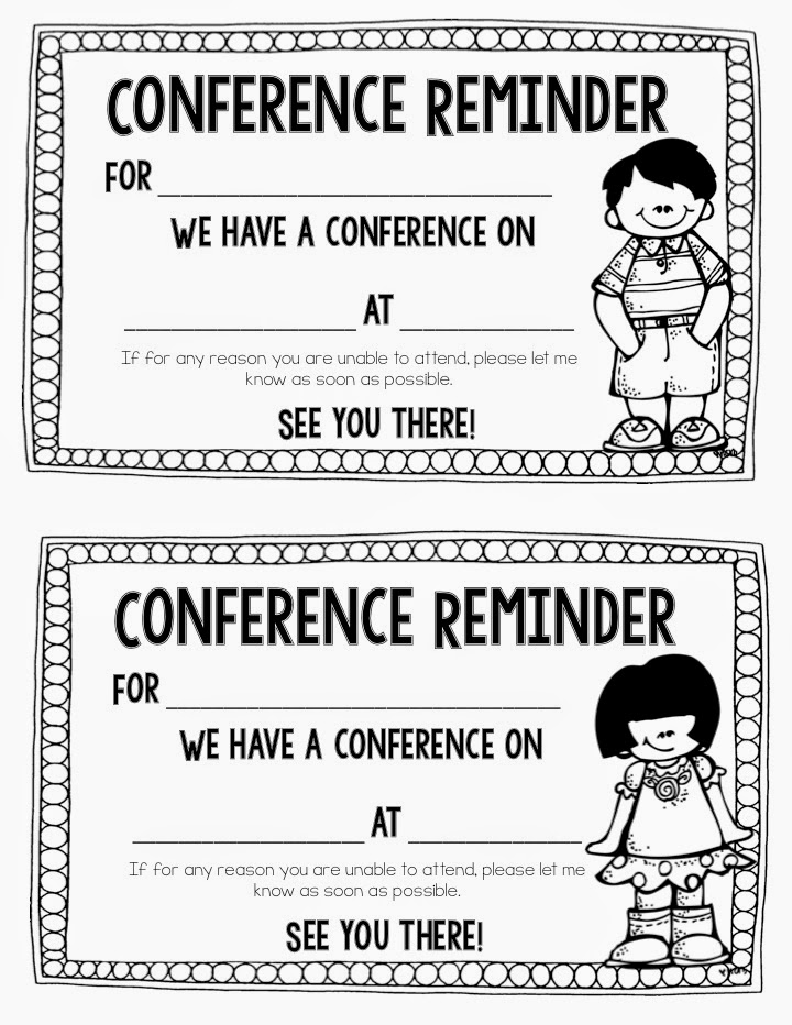 ... Conference Reminder Form and Free Parent Teacher Conference Forms