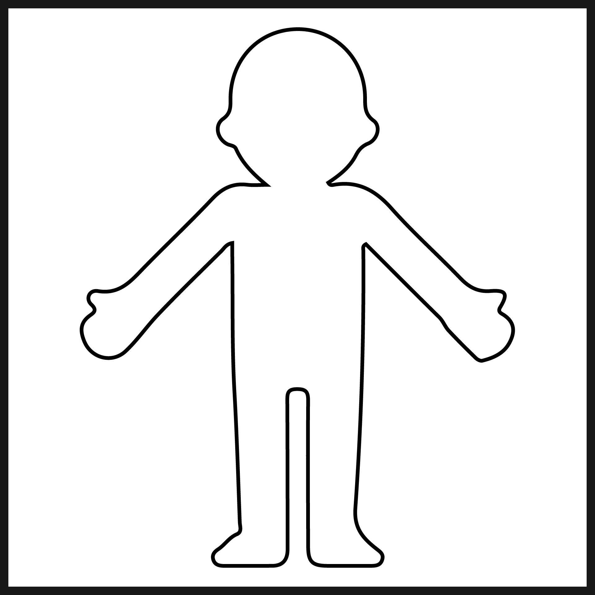 Person Cut Out Shape
