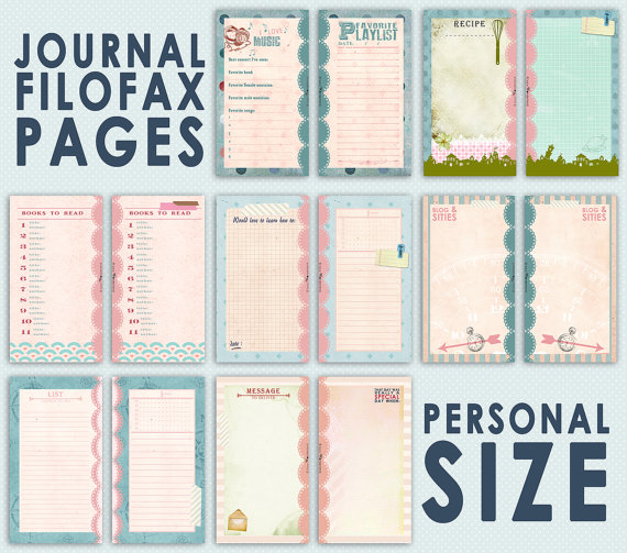 Personal Size Filofax Printable Pages Free