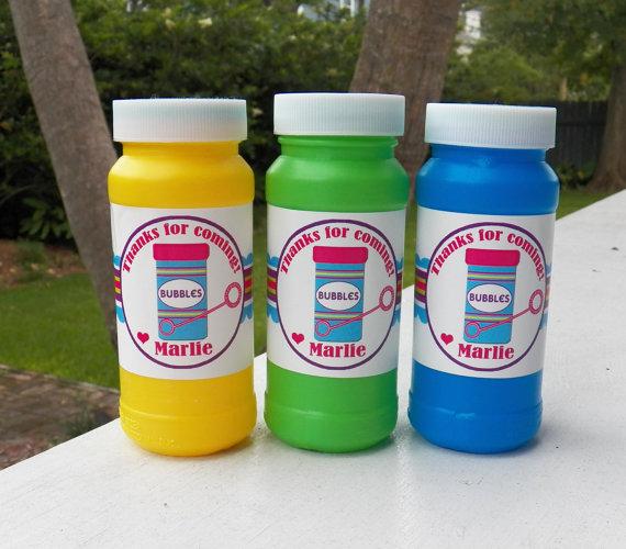 Personalized Bubble Bottle Labels Printable