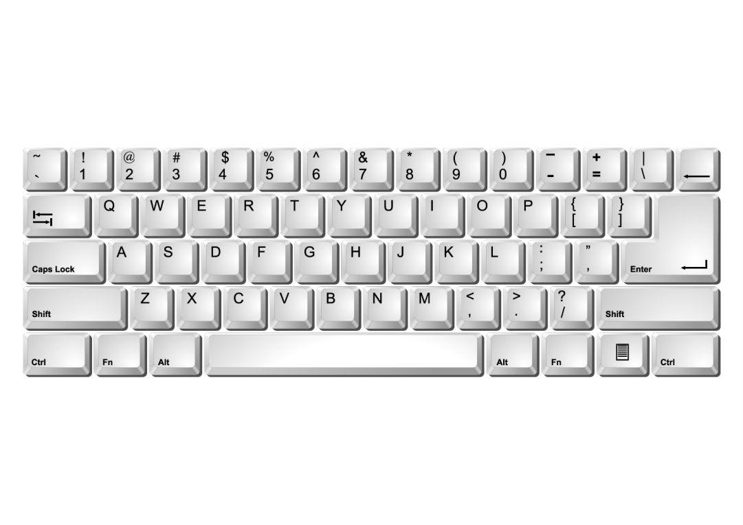 Printable Computer Keyboard Laptop