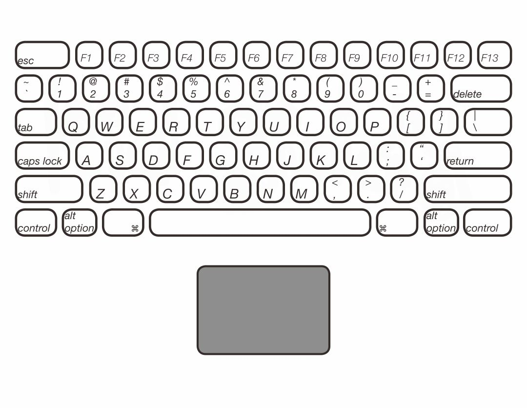 7 Best Printable Laptop Keyboard - printablee.com
