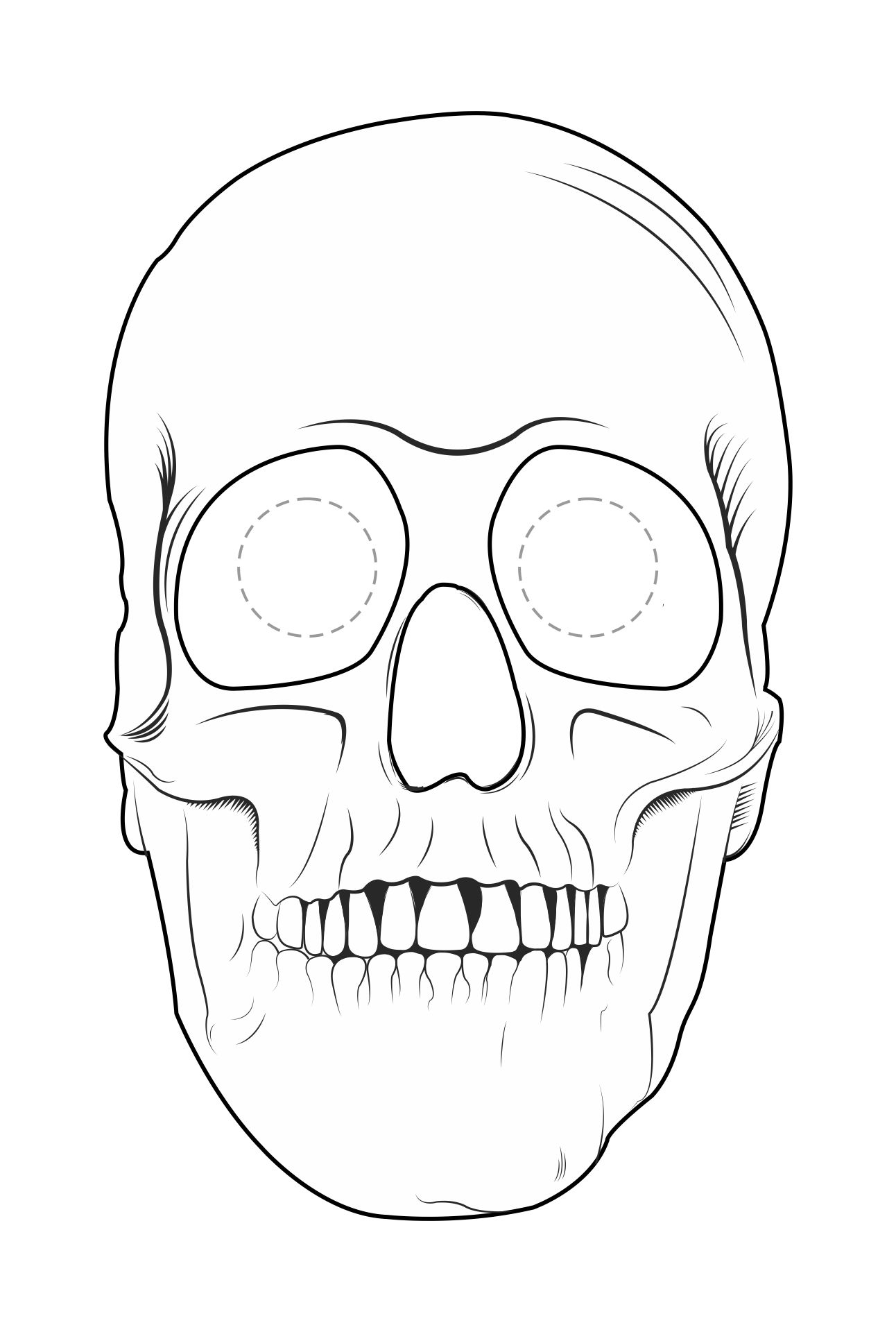 4 Images of Halloween Mask Printable Coloring Pages