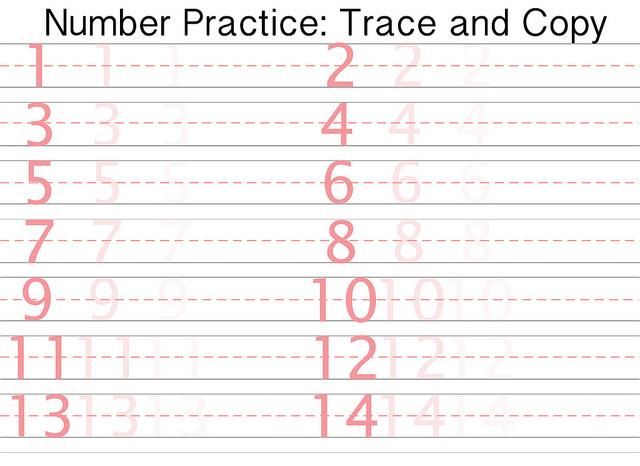 Number Names Worksheets : free number worksheets for preschool ...