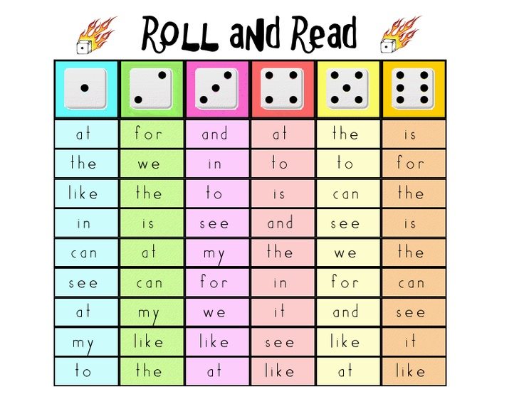 Printable Sight Word Board Game