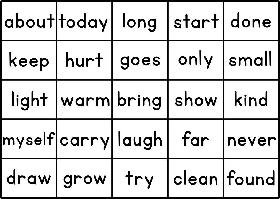 Printable Sight Word Games