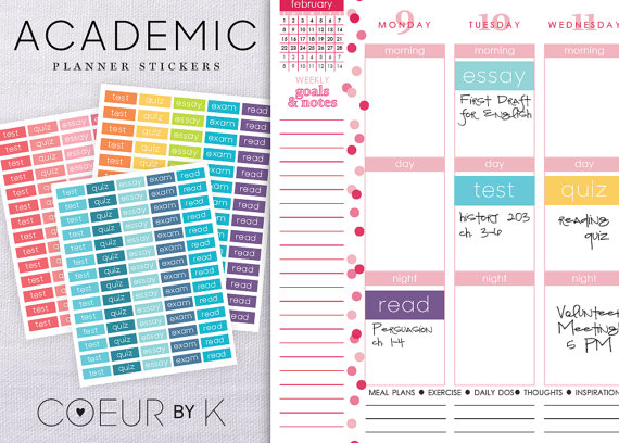 6 Images of Student Planner Printable Stickers
