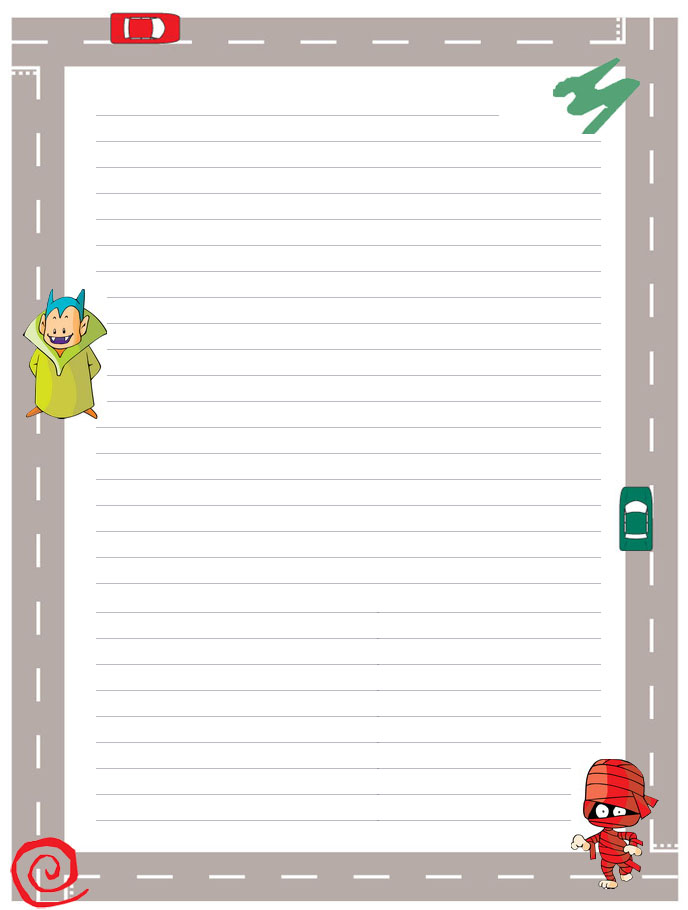 7 Images of School Paper Printable Stationary