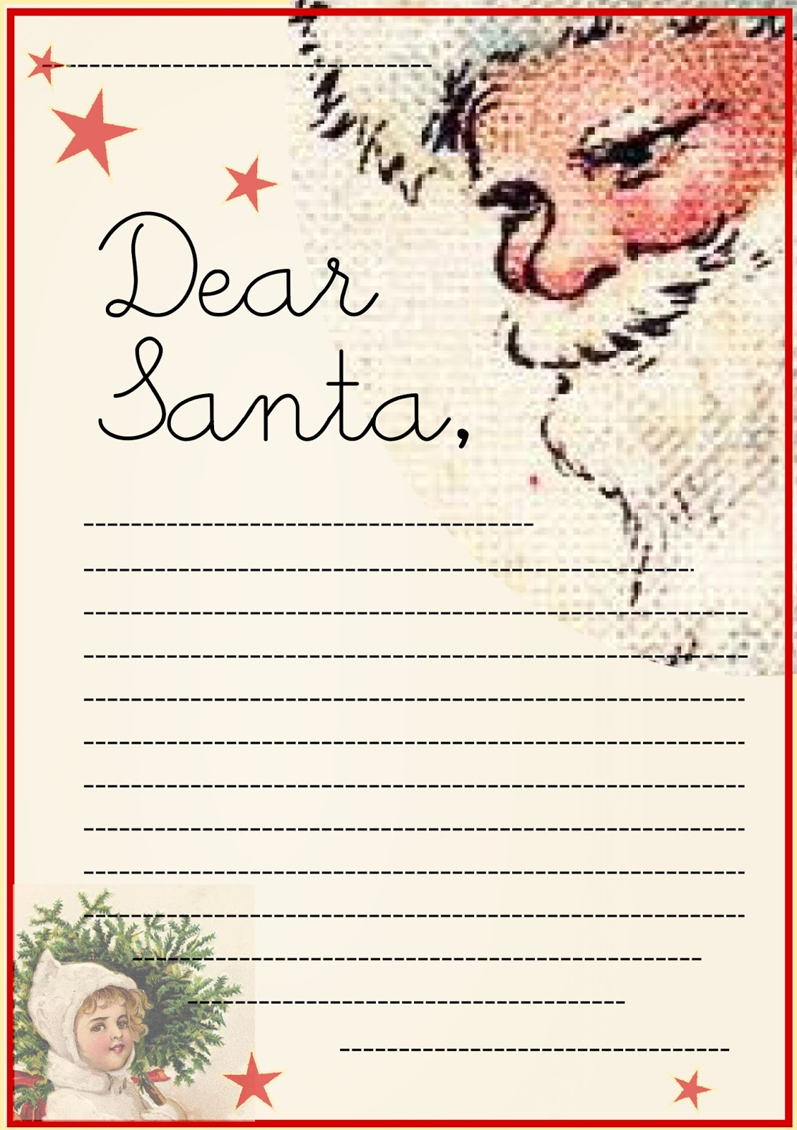 Santa Claus Christmas List Template